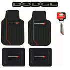 DODGE Elite Car Truck Front Back Floor Mats Key Chain Seat Cover