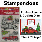 Stampendous Truck Tidings Rubber Stamps  Cutting Dies Christmas Tree