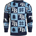 Tampa Bay Rays Patches Ugly Pullover Sweater - Navy - MLB