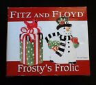 NEW Fitz and Floyd Frostys Frolic Salt and Pepper Shakers ~ Snowman