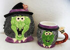 Fitz & Floyd Omnibus Halloween Witch Snack Plate & Mug Cup Set