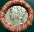 Estate Mixed Wheat Indian Cent Roll with Mercury Dime & Indian Head ends lot ah