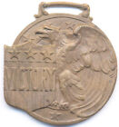 1930-1940s BEAUTIFUL VINTAGE * VICTORY * AMERICAN EAGLE BRASS WATCH FOB ~LQQK!~
