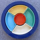 Vintage Fiesta Relish Tray ALL 6 COLORS! Excellent Condition NR!
