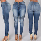 Women Pencil Stretch Casual Denim Skinny Jeans Pants High Waist Jeans Trouser US