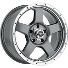 17x85 Gray Level 8 Punch Wheels 5x55 6 Lifted Fits Chevrolet Tracker