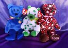 One Ty Bear Beanie Baby Clubby or Clover or Hearts a Plenty  Sold Separately