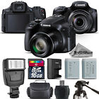 Canon PowerShot SX60 HS Digital Camera 161MP 65x Optical NFC WiFi 16GB Kit