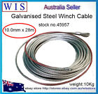 Galvanised Steel Wire Winch Rope Cable,10mm x 28m,12000lb Rope Wire Replacemen