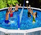Swimline 9187 Above Ground Cross Swimming Pool Portable Volleyball Game Set