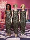 Gold Black Dress Outfit Gown Princess Diana Marilyn Monroe Michelle Obama Doll