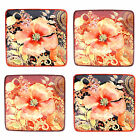 Certified International Watercolor Poppies Assorted Design Ceramic 6-inch Canape