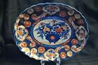 Orange Oval Shallow Bowl 19th century Hand Painted