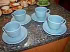 Set of (4) Fiesta Periwinkle Blue Cups & Saucers - Retired Color