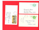 USED Assortment of 6 different SCOTT s United States Postal Stationery Cards