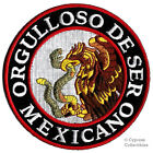 PROUD TO BE MEXICAN embroidered iron on PATCH FLAG ORGULLOSO DE SER MEXICANO new