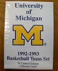 University of Michigan Basektball Card Team Set 14 Cards UM Fab Five Sealed