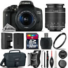 Canon EOS Rebel 750D T6i Camera + 18 55mm IS STM Lens + Canon Case 32GB Kit