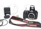 Canon EOS 60D 18MP Digital SLR Camera Body with accessories as shown
