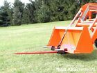 HD Bucket Hay Bale Spear Attachment For Front Loader  Skid Steer w 49 Prong