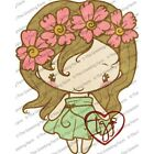 FLEUR ANYA The Greeting Farm Cling Mount Rubber Stamp Stamping Craft RETIRED