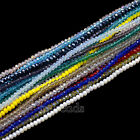2x3mm Czech Crystal Faceted Rondelle Glass Beads Bracelet Necklace Top Quality