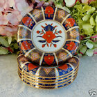 6 Beautiful Vintage Fitz & Floyd Porcelain Bowls ~ Empress Cobalt Rust Gold Gilt