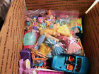 Polly Pocket LG FR MB GRAB BOX LOT Dolls Clothing ACCESSORIES LOT over 150pcs