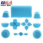 Customized Full Buttons R1L1R2L2 Triggers for PS4 Controller Solid Light Blue