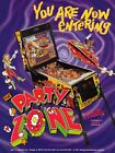Party Zone Pinball Promo Flyer Mint / Original Brochure