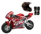 Razor Pocket Rocket 24V Mini Bike Electric Motorcycle with Helmet