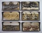 Lot of 6 Keystone Stereoviews ~ WW1 Marching Soldiers, Tanks, 1st Life Guards