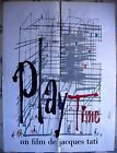 French PLAY TIME 23x32 movie poster Jacques Tati Film Affiche Cinema 1967 NM