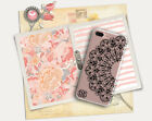 Personalized clear iPhone case Black lace pattern Unique gifts for women cute
