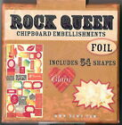 DCWV Scrapbooking Chipboard Embellishments ROCK QUEEN Music 54 pieces