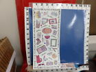 56 sheets of stickers slumber party words chit chat girl boyd check cool 34v