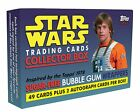2017 Topps Star Wars 1978 SUGAR-FREE WRAPPER CARDS Box 49 Cards + 2 Autographs+