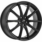 17x8 Black Platinum Flux 435 Wheels 5x120 +35 Fits Buick LaCrosse Regal
