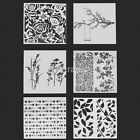 6 Patterns Layering Stencils Template For DIY Scrapbooking Drawing Home Decorate