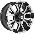 15x8 Machined Black Sendel S13 5x55 20 Wheels Open Country A T II Tires