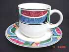 SANGO STONEWARE CUP AND SAUCER FLAIR PATTERN #4806 by JOAN LUNTZ