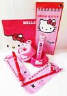 HELLO KITTY Discontinued Cat Kitten Pet Pink Red Bowls Mat Collar Toys Lot of 8