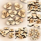 100pcs Sizes Mixed Rustic Wooden Love Heart Wedding Table Scatter Decoration