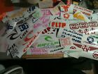 Lot of OVER 65 surf skate and popular decal collection stickers vans DC etc