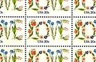 1982 LOVE FLOWERS 1951 Full Mint MNH Sheet of 50 Postage Stamps