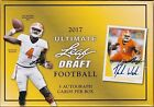 2017 ULTIMATE LEAF DRAFT FOOTBALL FACTORY SEALED 5 AUTOGRAPHED CARDS PER BOX