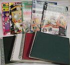 Large Lot Miscellaneous Scrapbook Items Spiral Books  Idea Paper Books