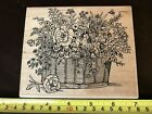 Embossing Arts Basket of Flowers rubber stamp