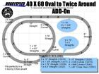 LIONEL FASTRACK 40X60 TWICE AROUND ADD ON PACK TRACK SET conversion layout NEW