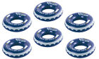 Corona 31 Inch Inflatable Corona Bottle Cap Swimming Pool Float Tubes 6 Pack